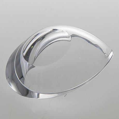 Aimo okkolin, a bowl signed riihimäen lasi o.y. aimo okkolin