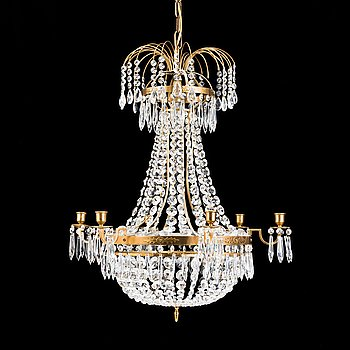 An end of the 20th Century Gustavian style chandelier.
