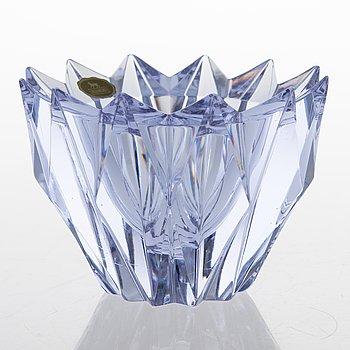 AIMO OKKOLIN,  A 'Water Lily' bowl, signed Aimo Okkolin, Riihimäen Lasi Oy.
