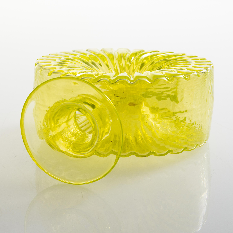 Maljakko/ lasipurkki kirkasta lasia 25,5 cm.