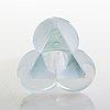 Helena tynell, an unsigned art glass designed 1986 for glashütte limburg, germany.