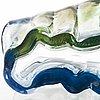 Helena tynell, a 'perho' vase, signed riihimäen lasi oy, helena tynell.