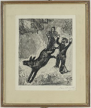 MARC CHAGALL, etching, signed and numbered 86.