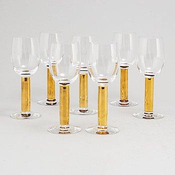 GUNNAR CYRÉN, seven 'Nobel' wine glasses, from Orrefors.