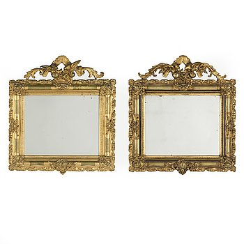 A pair of Rococo Revival style mirrors, second half of the 19th century.