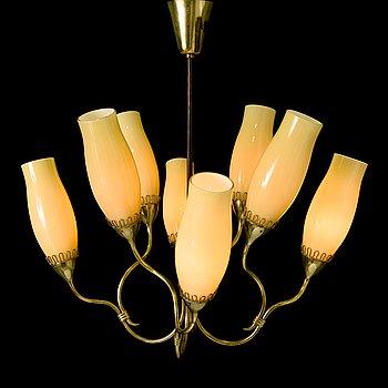 GUNNEL NYMAN, A mid 20th century '51110' chandelier Sievä for Idman Finland.