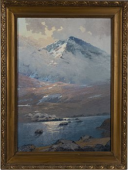 OLOF WALFRID NILSSON, oil on canvas, signed and dated Wassijaur 1921.