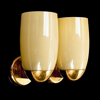 PAAVO TYNELL, a pair of mid 20th century wall lights for Idman. Finland.