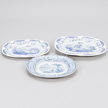 Three Early 19th Century English Porcelain Serving Dishes.