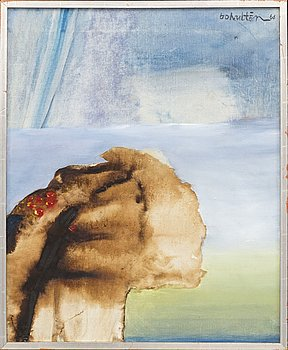 BO HULTÉN, oil on canvas, signed and dated 66.