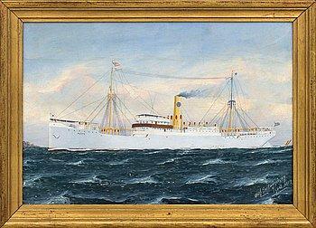 OLAF GULBRANDSEN, oil on paper, signed 1912.