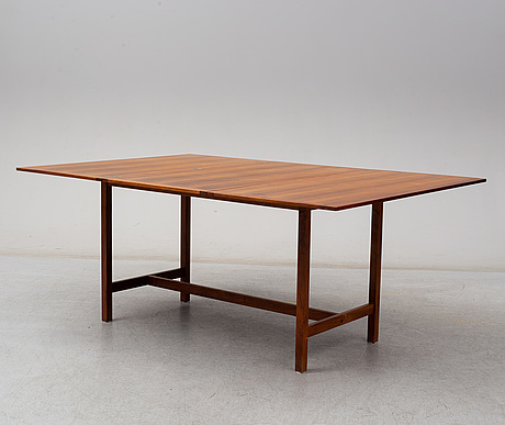 A second half of the 20th century dining table by karl erik ekselius for joc, vetlanda