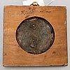 A swedish empire copper and gilt bronze portrait medallion representing jöns jacob berzelius