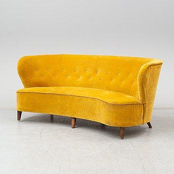 Johannes Brynte, soffa, Swedish Modern, Bryntes Möbler, Gävle, 1940-tal.
