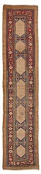 260. A RUNNER, an antique/semi-antique Hamadan, one of a pair, ca 534 x 114 cm (as well as 2,5 and 1,5 cm flat weave at.
