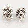 Brilliant cut diamond floral shaped earrings