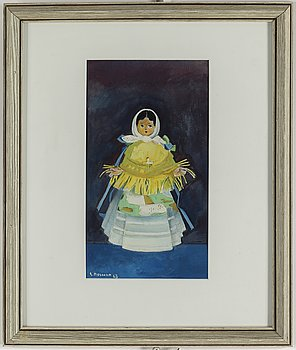 EINAR NERMAN, watercolour, signed and dated -63.