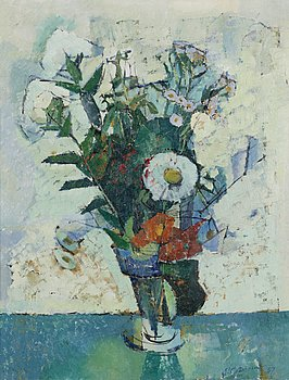 PAUL GRÖNHOLM, oil on canvas, signed and dated 57.