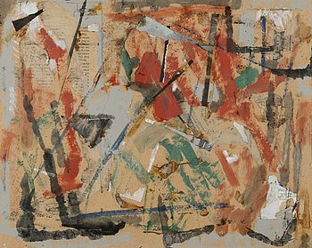 OIVA VIINIPURO, mixed media, signed and dated 1968.
