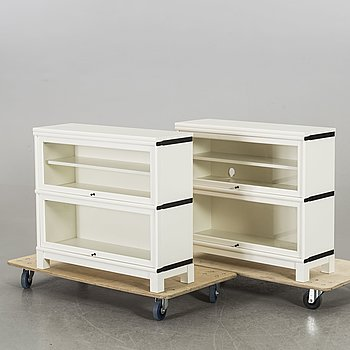 Two 21st century display cabinets by Boknäs.