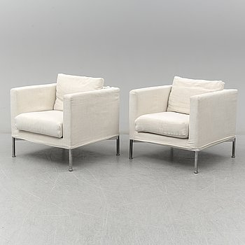 A pair of 'Box' easy chairs by Piero Lissoni from Living Divani.