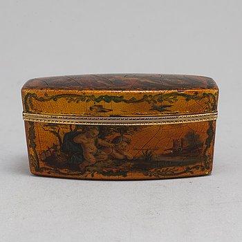 A 19th century lacquer box.