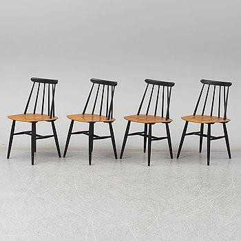 Four 'Fanett' chairs by Ilmari Tapiovaara, Edsbyverken, Sweden.