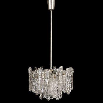 "A 1960s ""Ice block chandelier"" by J.T Design, Kalmar, Austria."