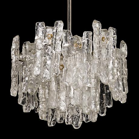 "A 1960s ""ice block chandelier"" by j.t design, kalmar, austria"