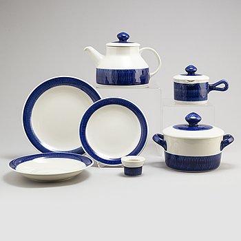 HERTHA BENGTSON, a 27  piece 'Koka Blå' porcelain service, Rörstrand, designed in 1956.