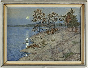 ARVID JACOBSSON, akvarell, signerad.