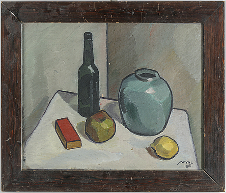 Henry mayne, oil on canvas, signed and dated 1916