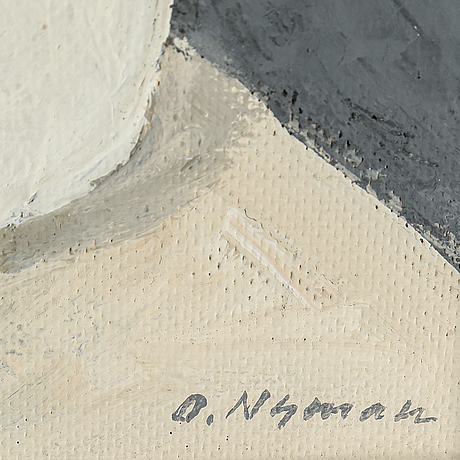 Olle nyman, oil on panel, signed.