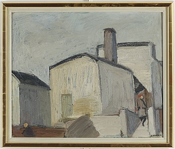 OLLE NYMAN, oil on canvas, signed.