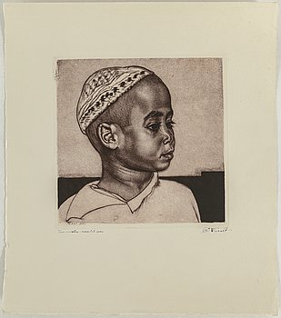 EDUARD WIIRALT, mezzotint, signed and dated 1940.