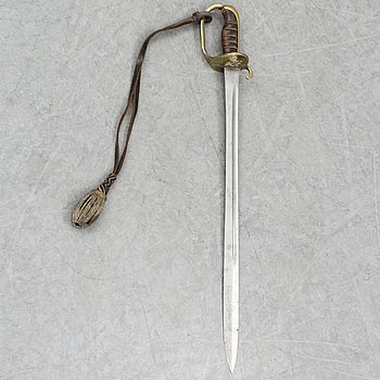 A Swedish navy NCO's sabre 1885 pattern with scabbard.