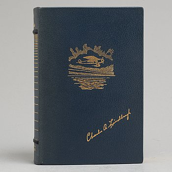 LINDBERGH, CHARLES A. Signed and numbered bibliophile Swedish edition.