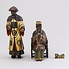 Sculptures, china late 19th century, painted wood.