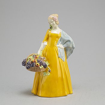 JOHANNA MEIER-MICHEL, a ceramic figurine from Wiener Kunstkeramische Werkstätte Busch & Ludescher, Austria, 1910's.