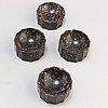 Saltkar, 3+1 stycken, porfyr, empire, 1800 talets andra kvartal
