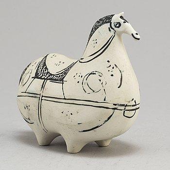 "STIG LINDBERG, a stoneware, ""Springare"" figure, from Gustavsberg Studio."