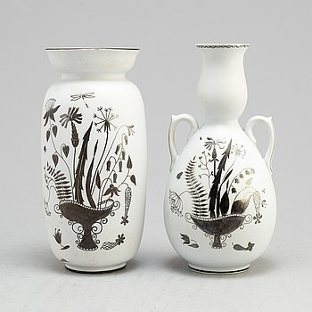 Two second half of the 20th century 'Grazia' vases by Stig Lindberg for Gustavsberg.