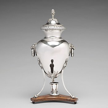 A Swedish 18th century silver hot-water urn, mark of Pehr Zethelius, Stockholm 1798.