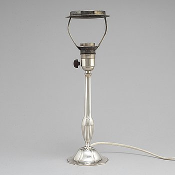 A silver table light from GAB, Stockholm, 1930.