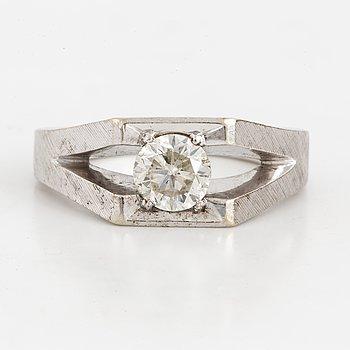 Circa 0,80 ct old-cut diamond ring.