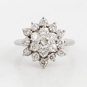 Brilliant-cut diamond ring, ca 1,20 ct.