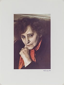 GISÈLE FREUND, photograph signed and stamped, portrait of Colette.