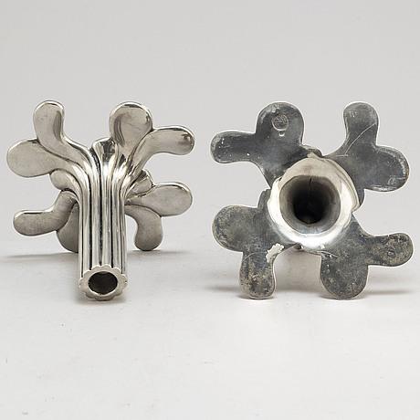 "Sissi westerberg, a pair of ""flow"" pewter candlesticks, firma svenskt tenn, 2011"