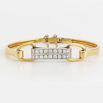 Armband 18K guld och vitguld.