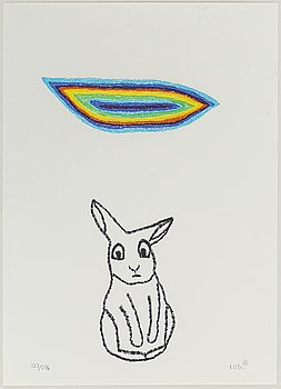 MARIANNE LINDBERG DE GEER, lithograph in colours, signed MLDG and numbered 127/295 in pencil.